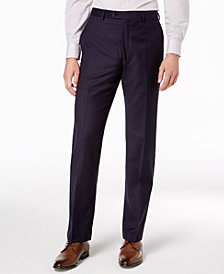 Lauren Ralph Lauren Men's Classic-Fit UltraFlex Stretch Bright Navy Mini-Grid Dress Pants