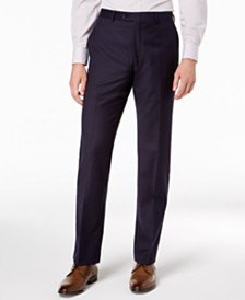 Lauren Ralph Lauren Men's Classic-Fit Windowpane Flannel Dress Pants