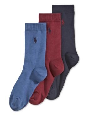 Polo Ralph Lauren 3Pk Supersoft Flat Solid Crew Socks Little Boys  Big Boys