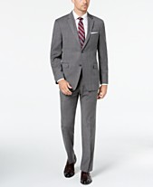 e21e3e87e3da Tommy Hilfiger Men s Modern-Fit THFlex Stretch Gray Blue Plaid Suit