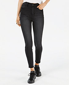Vanilla Star Juniors' Super High-Rise Ripped Skinny Jeans