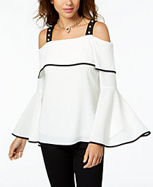 Thalia Sodi Off-The-Shoulder Bell-Sleeve Top, Created for Macy's