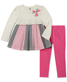 Kids Headquarters Little Girls 2-Pc. Long-Sleeve Printed Tunic & Leggings Set