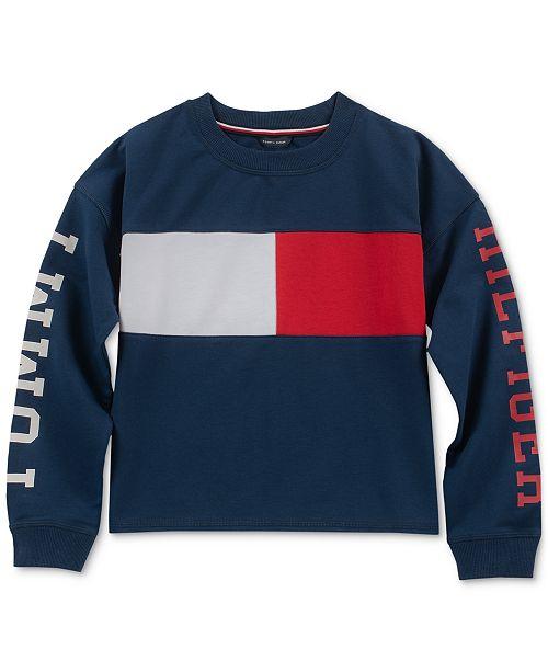 dfb0a667c6dc Tommy Hilfiger Little Girls Colorblocked Sweatshirt   Reviews ...
