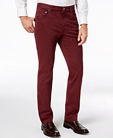 Tasso Elba Men's Straight-Fit Stretch Pants, Created for Macy's