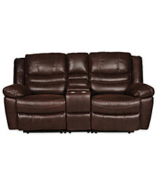 Liam Manual Rocking Reclining Loveseat With Console