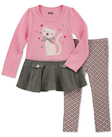 Kids Headquarters Baby Girls 2-Pc. Cat Tunic & Leggings Set