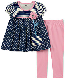 Kids Headquarters Baby Girls 2-Pc. Flower Pocket Tunic & Leggings Set