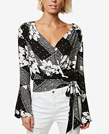 O'Neill Juniors' Jude Printed Wrap Top