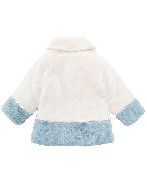 199770bfc8fb First Impressions Baby Girls Shawl-Collar Faux-Fur Coat