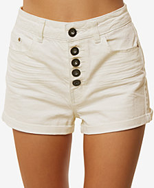 O'Neill Juniors' Brody Button-Fly Cotton Denim Shorts