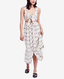 Free People Caldasi Cotton Printed Midi Dress
