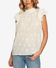1.STATE Cotton Flutter-Sleeve Top