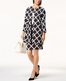 Alfani Printed Jacket & Pencil Skirt, Created for Macy's