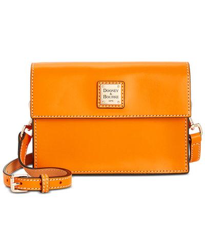 Dooney & Bourke Beacon Small Flapover Smooth Leather Crossbody