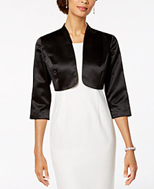 Alex Evenings Satin Bolero Jacket