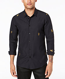 Versace Men's Gold Logo Shirt