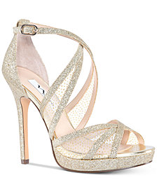 Nina Fenna Platform Evening Sandals