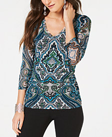 I.N.C. Printed Top, Created for Macy's