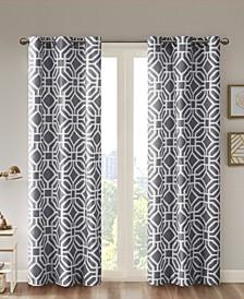 "Maci Fretwork 42"" x 84"" Room-Darkening Grommet Window Panel"