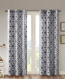 "Intelligent Design Maci Fretwork 42"" x 84"" Room-Darkening Grommet Window Panel"