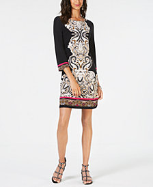 I.N.C. Printed Sheath Dress, Created for Macy's