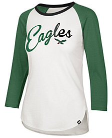 '47 Brand Women's Philadelphia Eagles Splitter Ombre Raglan T-Shirt
