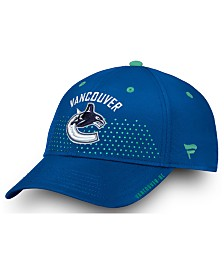 Authentic NHL Headwear Vancouver Canucks Draft Structured Flex Cap