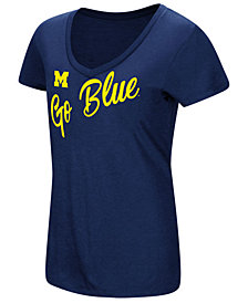 Colosseum Women's Michigan Wolverines Big Sweet Dollars T-Shirt