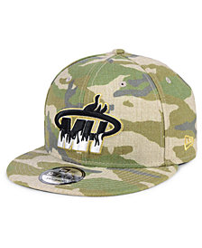 New Era Miami Heat Combo Camo 9FIFTY Snapback Cap
