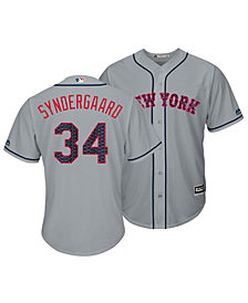 Majestic Men's Noah Syndergaard New York Mets Stars & Stripes Cool Base Jersey