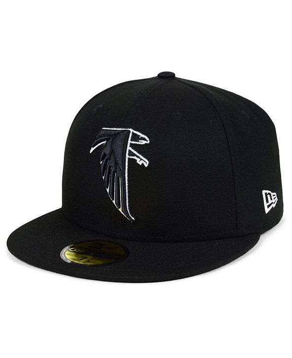 New Era Atlanta Falcons Black And White 59FIFTY Fitted Cap