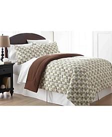 Micro Flannel® King Awning Stripe Comforter Mini Set