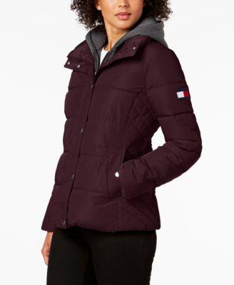 Knit-Hood Puffer Coat