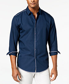 I.N.C. Men's Deco Topstitch Shirt, Created for Macy's