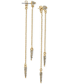 RACHEL Rachel Roy Gold-Tone Pavé Spike Front-and-Back Earrings