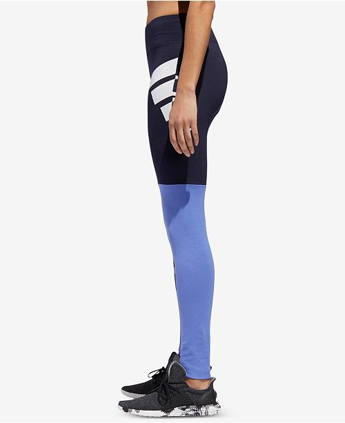 ID adidas Leggings real Sport Colorblocked Legend Ink F17 Lilac PAPBwq