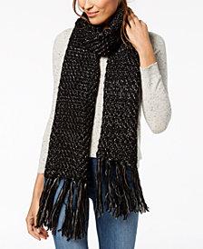 Steve Madden Shimmer-Knit Tassel Scarf