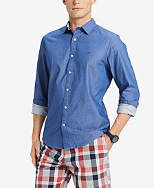 Tommy Hilfiger Men's Broome Stretch Twill Classic Fit Shirt, Created for Macy's