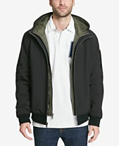 3d03b3b9 Tommy Hilfiger Men's Big & Tall Hooded Soft-Shell Jacket with Inset Quilted  Puffer Bib
