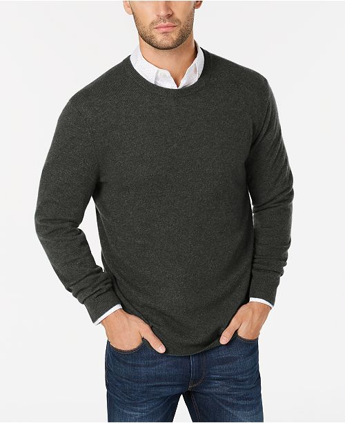 4303c87be49be Club Room Cashmere Crew-Neck Sweater
