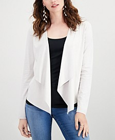 INC Petite Moleskin Cardigan, Created for Macy's