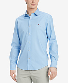 Tommy Hilfiger Men's Chris Polka Dot Print Classic Fit Shirt, Created for Macy's