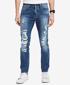 Tommy Hilfiger Men's Straight-Fit Lucas Destroyed Jeans, Created for Macy's