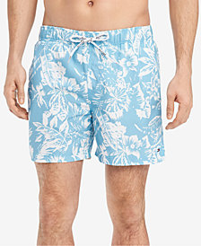 "Tommy Hilfiger Men's Tropical Print 6.5"" Swim Trunks, Created for Macy's"
