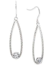 Giani Bernini Cubic Zirconia Teardrop Drop Earrings, Created for Macy's