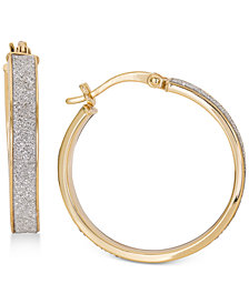 Giani Bernini Glitter Hoop Earrings, Created for Macy's
