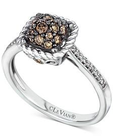 Chocolatier® Diamond Cluster Ring (1/2 ct. t.w.) in 14k White Gold