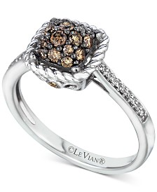 Le Vian Chocolatier® Diamond Cluster Ring (1/2 ct. t.w.) in 14k White Gold