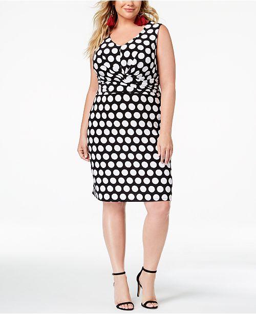 89db40f9a68 ... INC International Concepts I.N.C. Plus Size Printed Faux-Wrap Sheath  Dress